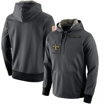 Men's Nike New Orleans Saints Anthracite Salute to Service Player Performance Hoodie -