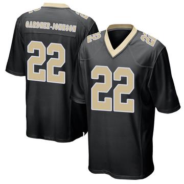 Men's Nike New Orleans Saints C.J. Gardner-Johnson Black Team Color Jersey - Game