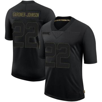 Men's New Orleans Saints Chauncey Gardner-Johnson Black 2020 Salute To Service Jersey - Limited