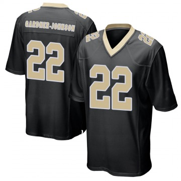 Men's Nike New Orleans Saints Chauncey Gardner-Johnson Black Team Color Jersey - Game