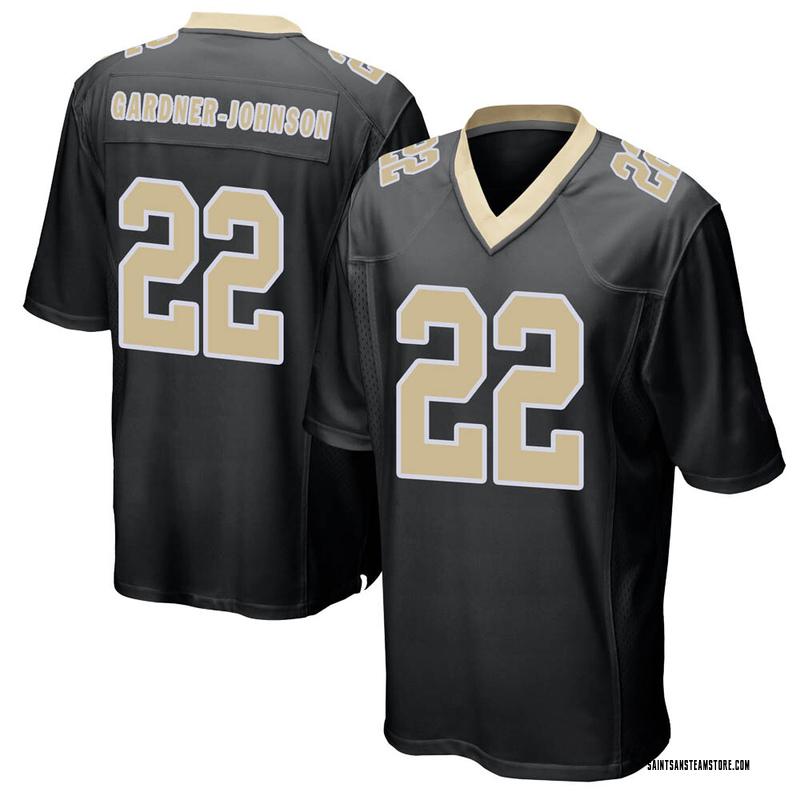 Men's Nike New Orleans Saints Chauncey Gardner-Johnson Black Team Color Jersey - Game