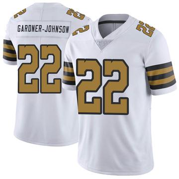 Men's New Orleans Saints Chauncey Gardner-Johnson White Color Rush Jersey - Limited
