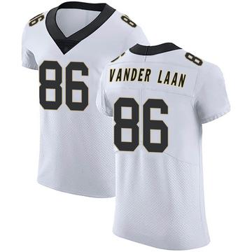 Men's Nike New Orleans Saints Jason Vander Laan White Vapor Untouchable Jersey - Elite
