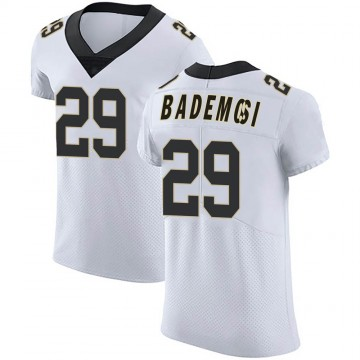 Men's Nike New Orleans Saints Johnson Bademosi White Vapor Untouchable Jersey - Elite