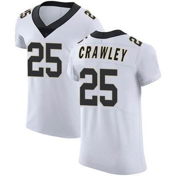 Men's Nike New Orleans Saints Ken Crawley White Vapor Untouchable Jersey - Elite