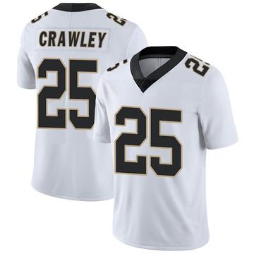 Men's Nike New Orleans Saints Ken Crawley White Vapor Untouchable Jersey - Limited