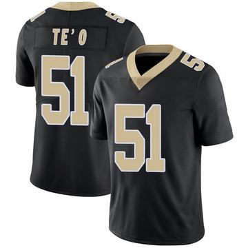 Men's Nike New Orleans Saints Manti Te'o Black Team Color 100th Vapor Untouchable Jersey - Limited