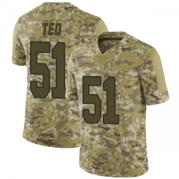 Men's Nike New Orleans Saints Manti Te'o Camo 2018 Salute to Service Jersey - Limited