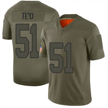 Men's Nike New Orleans Saints Manti Te'o Camo 2019 Salute to Service Jersey - Limited