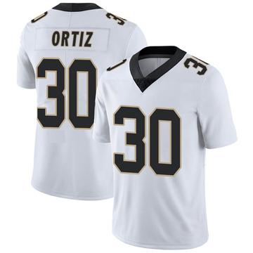 Men's Nike New Orleans Saints Ricky Ortiz White Vapor Untouchable Jersey - Limited