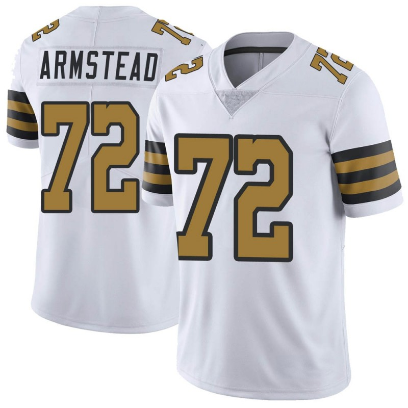 Men's Nike New Orleans Saints Terron Armstead White Color Rush ...