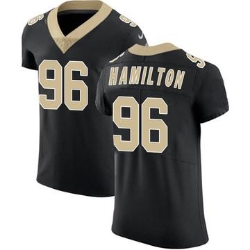 Men's New Orleans Saints Woodrow Hamilton Black Team Color Vapor Untouchable Jersey - Elite