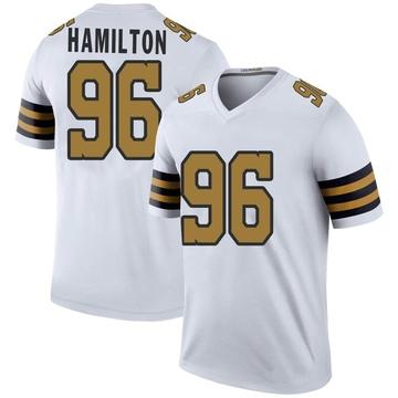 Men's New Orleans Saints Woodrow Hamilton White Color Rush Jersey - Legend