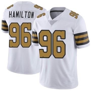 Men's New Orleans Saints Woodrow Hamilton White Color Rush Jersey - Limited