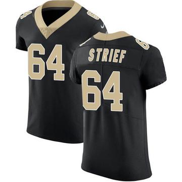 Men's New Orleans Saints Zach Strief Black Team Color Vapor Untouchable Jersey - Elite