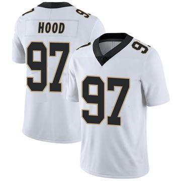 Men's Nike New Orleans Saints Ziggy Hood White Vapor Untouchable Jersey - Limited