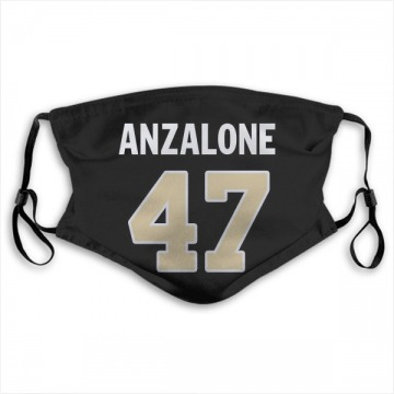 New Orleans Saints Alex Anzalone Black Jersey Name & Number Face Mask