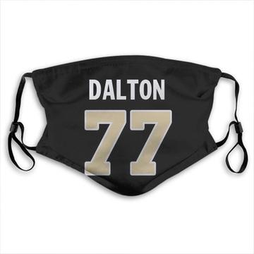 New Orleans Saints Jalen Dalton Black Jersey Name & Number Face Mask