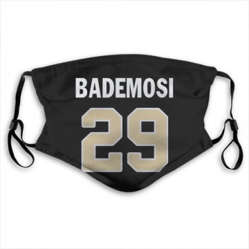 New Orleans Saints Johnson Bademosi Black Jersey Name & Number Face Mask
