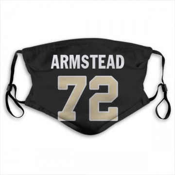 New Orleans Saints Terron Armstead Black Jersey Name & Number Face Mask
