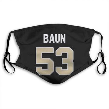 New Orleans Saints Zack Baun Black Jersey Name & Number Face Mask
