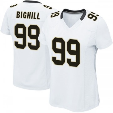 Women's Nike New Orleans Saints Adam Bighill White Jersey - Game
