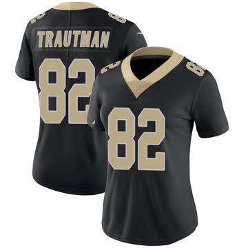 Women's Nike New Orleans Saints Adam Trautman Black Team Color 100th Vapor Untouchable Jersey - Limited