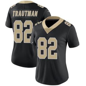 Women's Nike New Orleans Saints Adam Trautman Black Team Color Vapor Untouchable Jersey - Limited