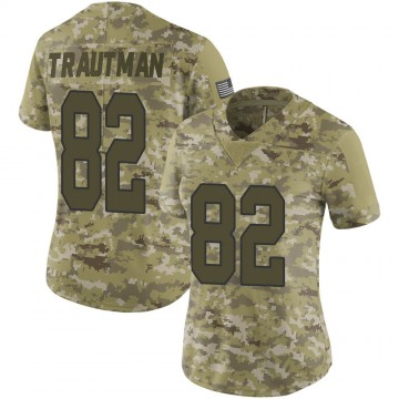 Women's Nike New Orleans Saints Adam Trautman Camo 2018 Salute to Service Jersey - Limited