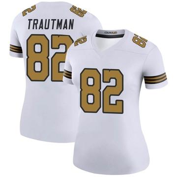 Women's Nike New Orleans Saints Adam Trautman White Color Rush Jersey - Legend