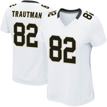 Women's Nike New Orleans Saints Adam Trautman White Jersey - Game