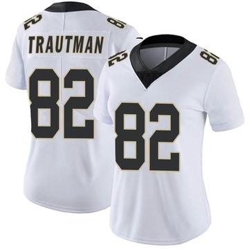 Women's Nike New Orleans Saints Adam Trautman White Vapor Untouchable Jersey - Limited