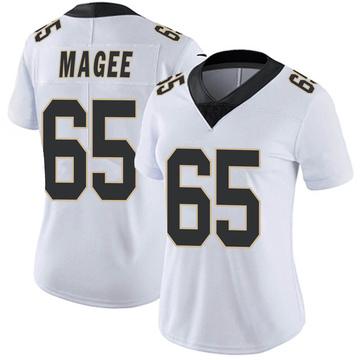 Women's Nike New Orleans Saints Adrian Magee White Vapor Untouchable Jersey - Limited