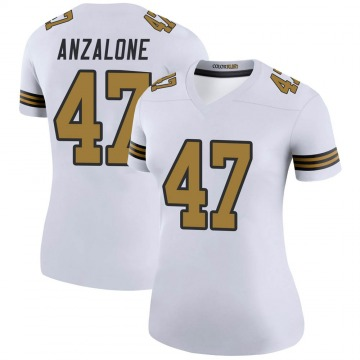 Women's Nike New Orleans Saints Alex Anzalone White Color Rush Jersey - Legend
