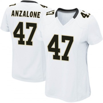Women's Nike New Orleans Saints Alex Anzalone White Jersey - Game