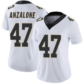 Women's Nike New Orleans Saints Alex Anzalone White Vapor Untouchable Jersey - Limited