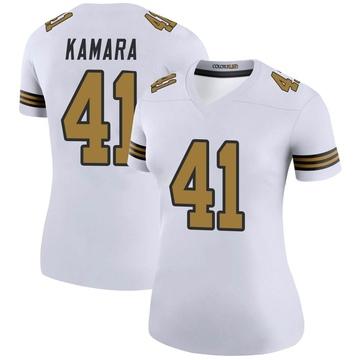 Women's Nike New Orleans Saints Alvin Kamara White Color Rush Jersey - Legend
