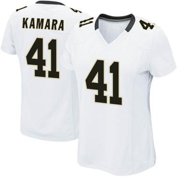 Women's Nike New Orleans Saints Alvin Kamara White Jersey - Game
