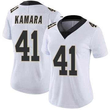 Women's Nike New Orleans Saints Alvin Kamara White Vapor Untouchable Jersey - Limited