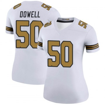 Women's Nike New Orleans Saints Andrew Dowell White Color Rush Jersey - Legend