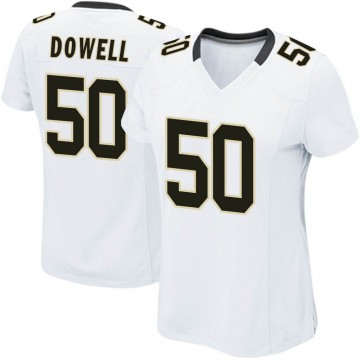 Women's Nike New Orleans Saints Andrew Dowell White Jersey - Game