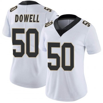 Women's Nike New Orleans Saints Andrew Dowell White Vapor Untouchable Jersey - Limited
