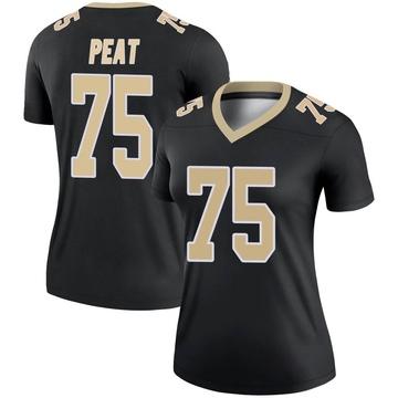 Women's Nike New Orleans Saints Andrus Peat Black Jersey - Legend