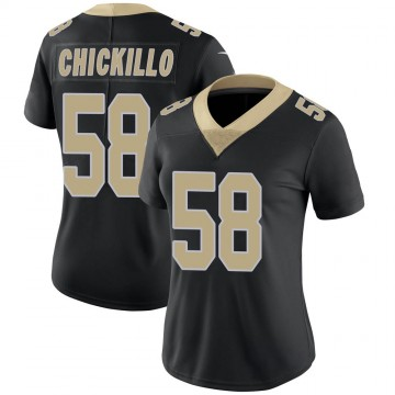 Women's Nike New Orleans Saints Anthony Chickillo Black Team Color Vapor Untouchable Jersey - Limited