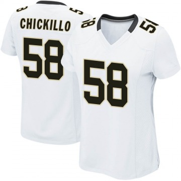 Women's Nike New Orleans Saints Anthony Chickillo White Jersey - Game