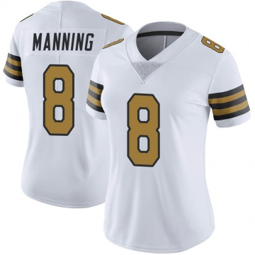 Women's Nike New Orleans Saints Archie Manning White Color Rush Jersey - Limited