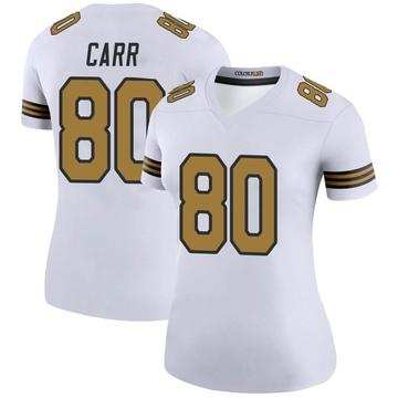 Women's Nike New Orleans Saints Austin Carr White Color Rush Jersey - Legend