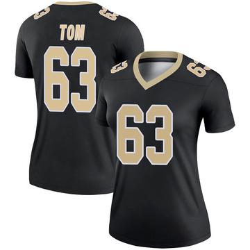 Women's Nike New Orleans Saints Cameron Tom Black Jersey - Legend
