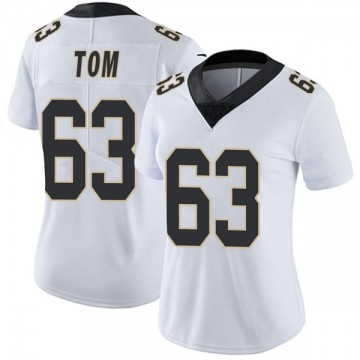 Women's Nike New Orleans Saints Cameron Tom White Vapor Untouchable Jersey - Limited