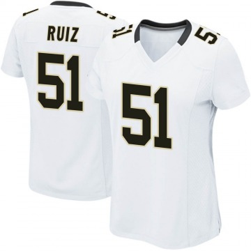 Women's Nike New Orleans Saints Cesar Ruiz White Jersey - Game